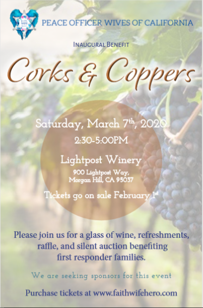 Corks and Coppers Fundraiser Event